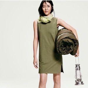 J. Crew Cotton Olive Green Pocket Dress
